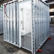 BUILDOM ™ pods are built to completion off-site whilst on-site construction works progress